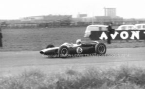 "COOPER CLIMAX Mclaren at speed Aintree 200 1962 10x7""photo"